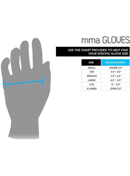 UFC Official MMA Gloves Sizing Chart