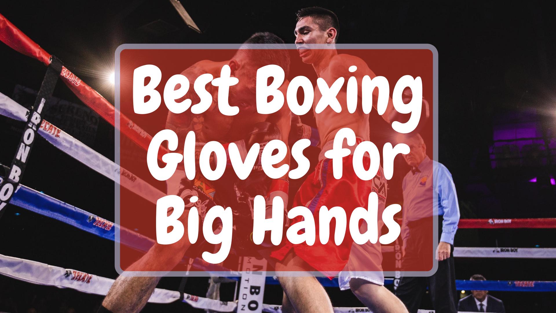 Best Boxing Gloves for big hands