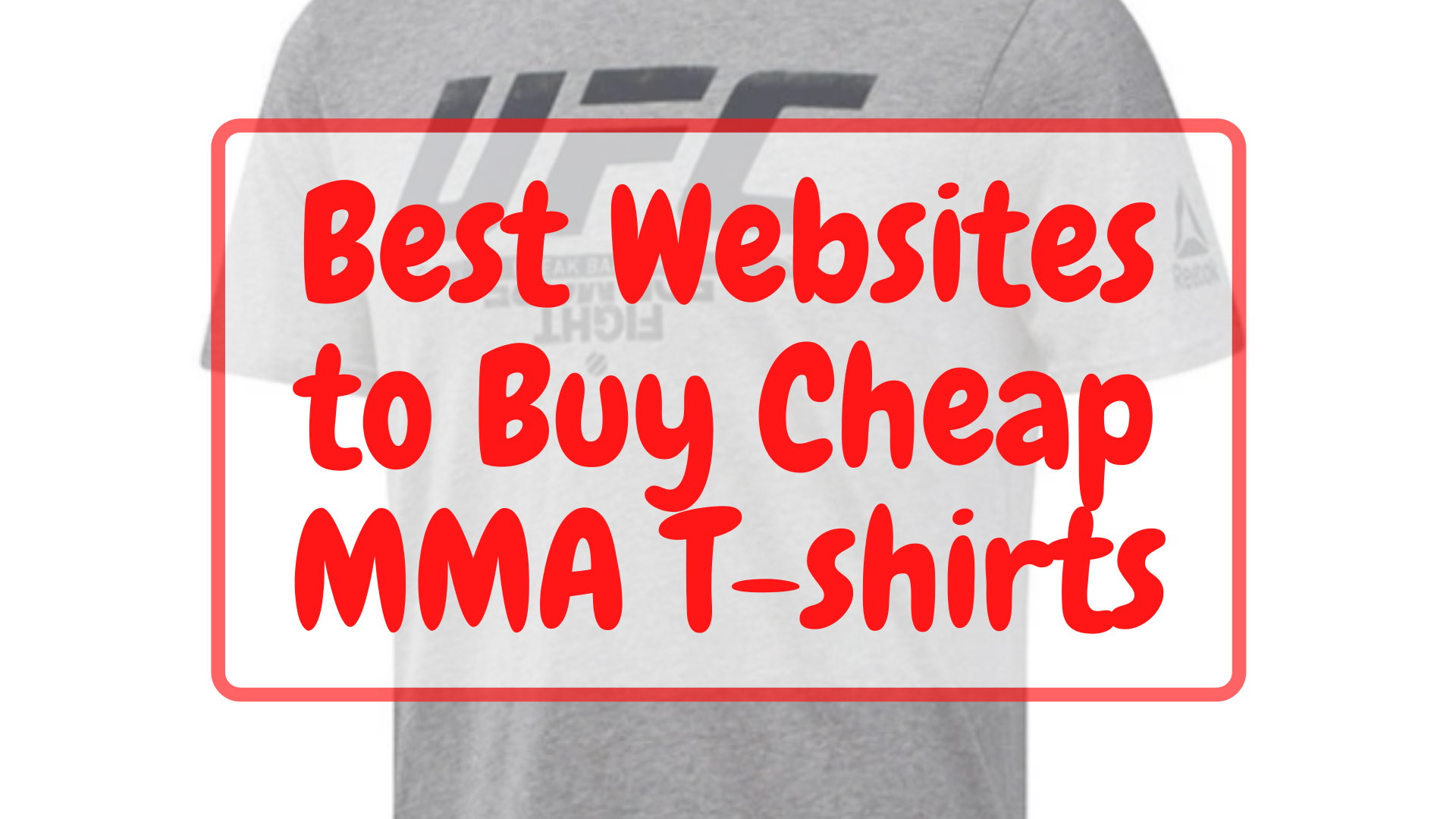 Best Websites to Buy Cheap MMA T-shirts